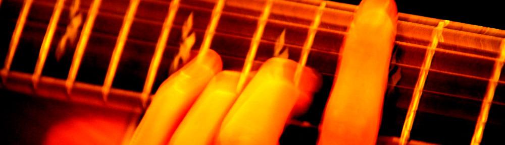 Gitarrenakkord auf der E-Gitarre